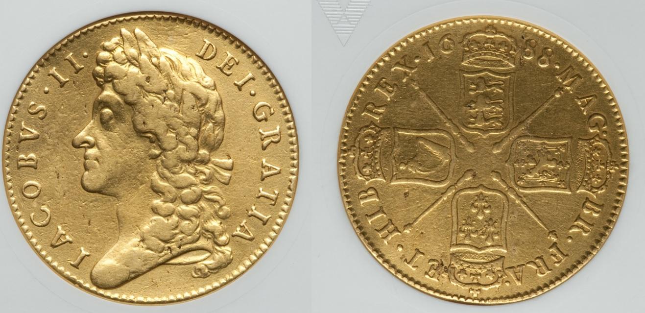 """イギリスの国宝 5ギニー金貨 """"徹底解説"""" 第2弾 ~ジェームズ2世 ..."""